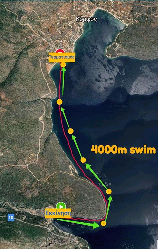 Χάρτης sea challenge 4km